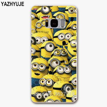 YAZHYUJE New Arrival phone Case for samsung S8 plus S7 edge S6 S5 S4 mini Hard PC Minions Patterned back Cover