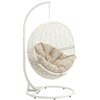Hide Outdoor Patio Swing Chair White Beige