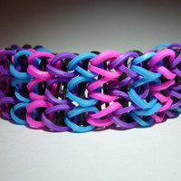 Loom Band Bracelet - Pink/Purple/Blue