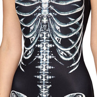 Heavy metal women one piece swimsuit skeleton skull head Rock roll sexy monokini swimming suit for woman swimwears banadores cute swimwear