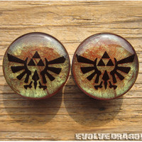 Triforce Zelda Shape-Shifter Plugs - 00g, 7/16, 1/2, 9/16, 5/8, 3/4, 7/8, 1 Inch - CUSTOMIZABLE