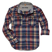Boy's Tailor Vintage Twill Flannel Woven Shirt,