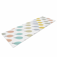 "Gukuuki ""Simple Leaves"" Multicolor Nature Yoga Mat"