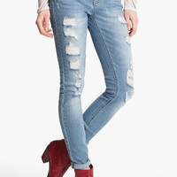Fire Distressed Skinny Jeans (Juniors) | Nordstrom
