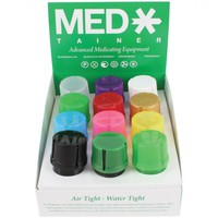 Medtainer - Storage Container with Built-In Grinder - Available in 17 Colors