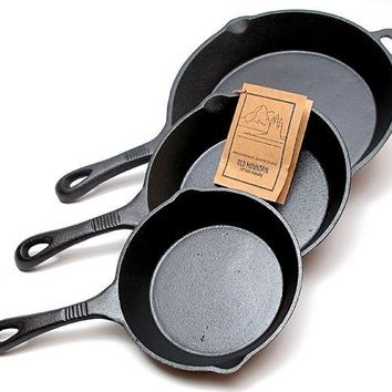 3-piece Cast Iron Skillet Set