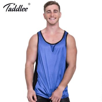 Taddlee Brand Men's Tank Top Sports Running Tee Shirts Sleeveless Gasp Fitness Stringer Muscle Singlets Bodybuilding Undershirts