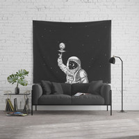 Space Collector Wall Tapestry by Lostanaw