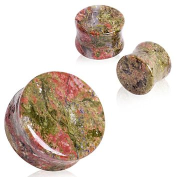 Unakite Stone Saddle Plug