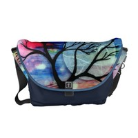 Tree and Ink Transparent Layers Courier Bag
