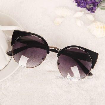 Ladies Stylish Vintage Metal Korean Fashion Sunglasses [9381800716]