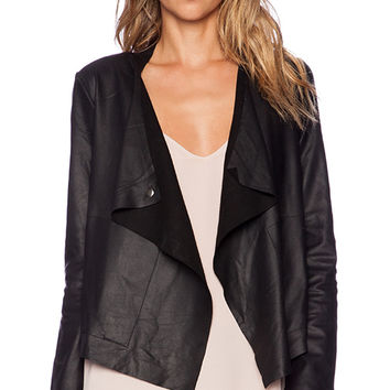 BB Dakota Rissi Leather Jacket in Black