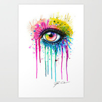 """Rainbow in your eyes"" Art Print by PeeGeeArts"