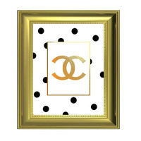Coco Chanel Quote - Perfume Bottle Art - Chanel Logo - Chanel Home Decor - Chanel Print, jpg Images, 3 sizes