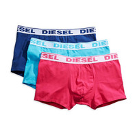 Diesel Three Pack Stretch Cotton Boxer Trunks