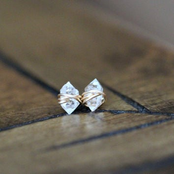 Herkimer Diamond Studs - A Collaboration w/ The Small Things Blog