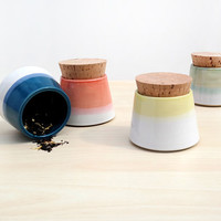 Small Pottery Spice Jars - Set of 4