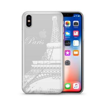 Paris Eiffel Tower - Clear TPU Case Cover Phone Case