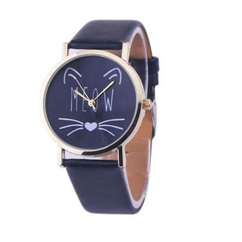 Fashion Casual Cat Pattern wristwatch