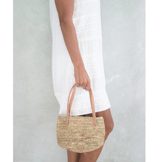 Straw Tote Small Straw Bag From Moosshop On Etsy