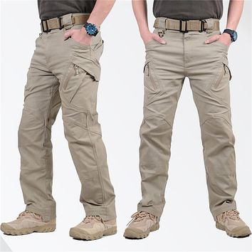 IX9 City Tactical Cargo Pants Men Combat SWAT Army Military Pants Cotton Pockets Stretch Paintball Militar Casual Trousers S-3XL