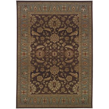 Genesis Brown Blue Oriental Persian Traditional Rug