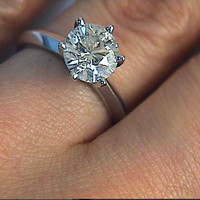 2.10ct F-VS2 Round Diamond Engagement Ring  EGL GIA  certified JEWELFORME BLUE