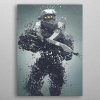 Master Chief. Splatter effect... by Stewart Wood | Displate
