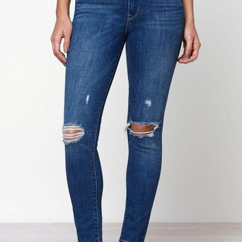 CREYON Levi's 721 High Rise Skinny Ankle Jeans