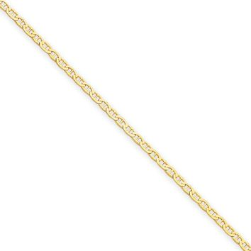 1.5mm, 14k Yellow Gold, Solid Anchor Link Chain Necklace, 18 Inch