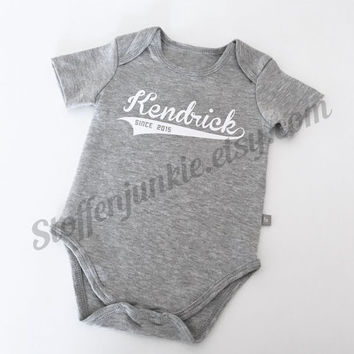 #Newborn #Baby, Custom Name #Bodysuit, #Boys Bodysuit with Name, #Personalized bodysuit, Stylish Shower Gift, European Baby Gift