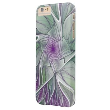 Flower Dream, Abstract Purple Green Fractal Art Barely There iPhone 6 Plus Case