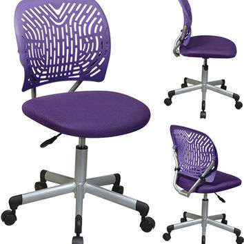 Office Star Designer Task Chair in Purple - 166006-512