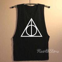 Deathly Hallows Shirt Harry Potter Shirts Muscle Tee Muscle Tank Top TShirt Unisex - size S M L