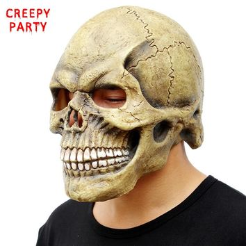 Scary Skull Mask Full Head Halloween Masks Realistic Latex Party Mask Horror Cosplay Toy Props