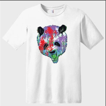 Paint Splattered Panda Bear Graphic T-shirt ? Animal T-shirts |Panda Bears | Paint Splatter T-shirts | Novelty T-shirts | Unisex T-shirts