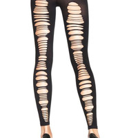 Leg Avenue Open Back Footless Tights Color: Black, Size: Onesize