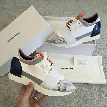 BALENCIAGA white fashion casual shoes