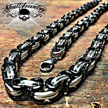 Black & Stainless Steel Necklace & Bracelet Combo (set003)