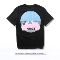 Short Sleeve Fashion Cotton Round-neck Summer Skateboard Couple T-shirts [10176391943]