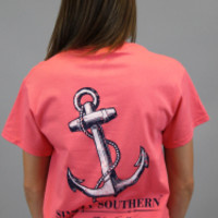 Simply Southern Tee - Coral Anchor