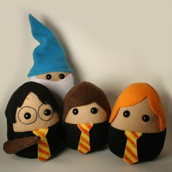 Cool Wizard Plushie Pals Set by SaintAngel on Etsy