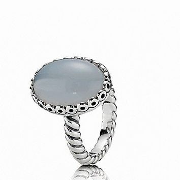 PANDORA Ring - Sterling Silver & Chalcedony Everlasting Friendship | Bloomingdale's