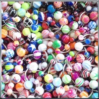 Lot of 50Pc 14G Belly Button Navel Rings Piercing Jewelry No Duplicates