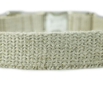 Hemp Dog Collar With Metal Buckle