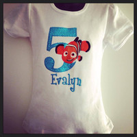 Personalized Finding Nemo Birthday Design - Blue Sequin