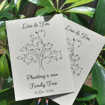 25 Wedding/Bridal Shower Seed Packet favors - Planting a new family tree