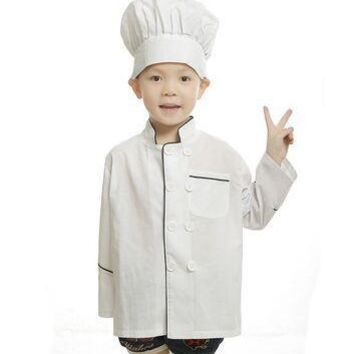 child chef costume for kids cook costumes uniform clothing halloween costumes for children chef coats chef kitchen