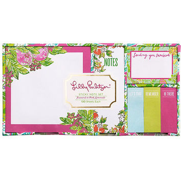 Lilly Pulitzer Pink Lemonade Sticky Note Set | Dillards