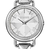 Women's VERSUS by Versace 'Coconut Grove' Pyramid Link Bracelet Watch, 38mm - Silver/ Black